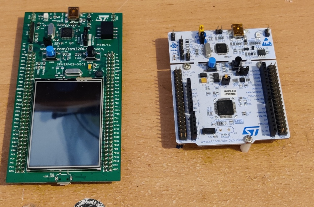 ST dev boards